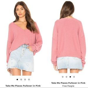 Free People Take Me Places Fuzzy Pullover Sweater